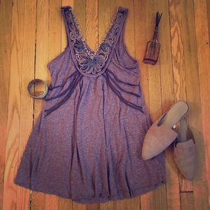 Free People Purple Knit Tunic
